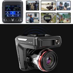 2in1 HD 1080P Car DVR Detector Camera Video Recorder Dash Ca