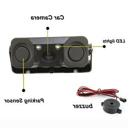 3 IN 1 Car Parking Reverse Backup Rear View Camera with 2 Ra