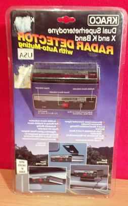 Kraco Dual Superheterodyne X and K Radar Detector Brand New!