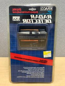 Kraco Dual Superheterodyne X and K Radar Detector. KRD-9505