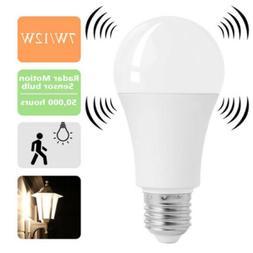 E27 PIR Detector Motion Activated Sensor 7W 12W LED Light Bu