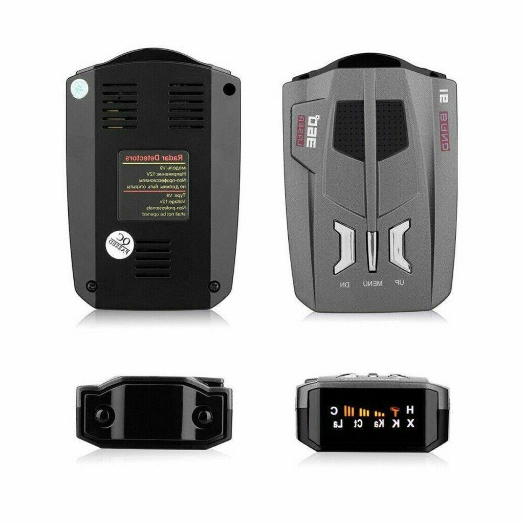 16 Trucker Speed Voice Alert V9 Laser Radar Detector 360°