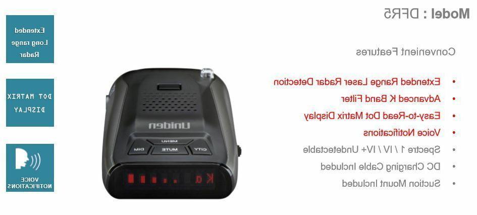 Uniden Laser Radar Ultra Range DFR5 Cobra