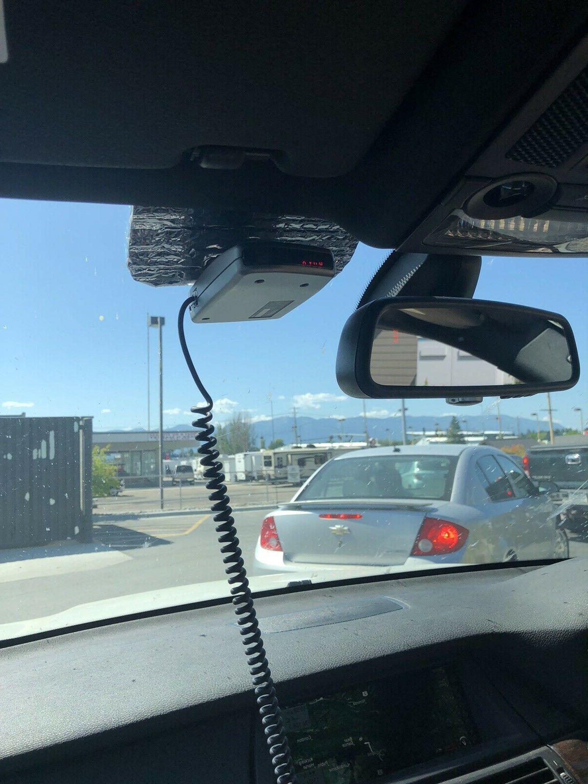 radar detector car windshield umbrella sunshade radiant