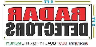 radar detectors banner sign new larger size