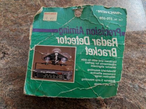 vintage archer 270 038 radar detector window