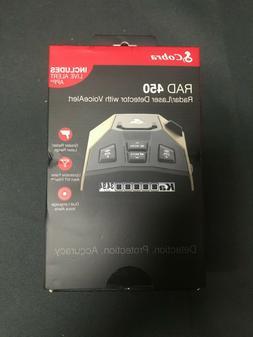 Cobra Rad 450 Radar Laser Detector Ka IVT Filtering Voice Al