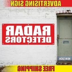 RADAR DETECTORS Advertising Banner Vinyl Mesh Decal Sign aut